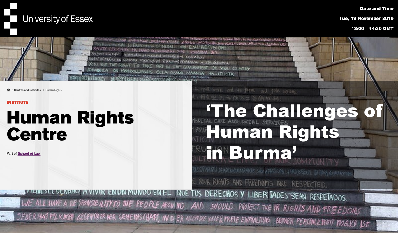 'The Challenges of Human Rights in Burma'